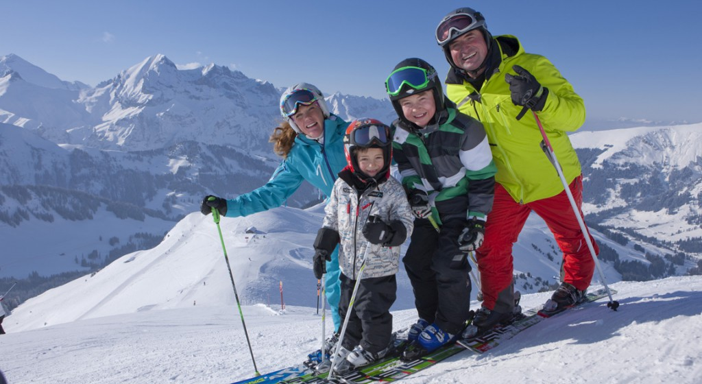 Família esquiant. Baqueira Beret