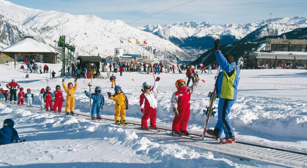 Classes infantils d'iniciació a l'esquí