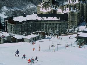 Retorn a l'Hotel des de d'alt de l'estació Baqueira Beret.