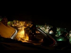 Baqueira Beret. Carretera nocturna zona 1500