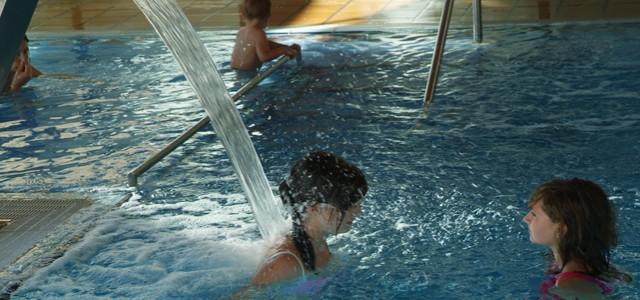 Disfrutando en la piscina del Hotel Tuc Blanc Baqueira